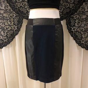 H&M Pleather Color Block Mini Skirt Sz 10
